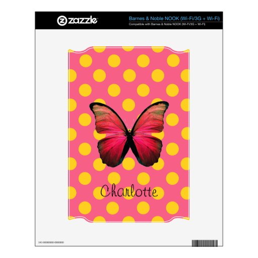 Pretty Pink and Yellow Butterfly Nook Skin
