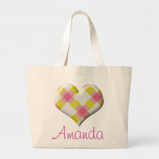 Pretty Pink and Yellow Heart Bags