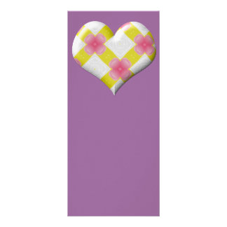 Pretty Pink and Yellow Heart Custom Rack Cards