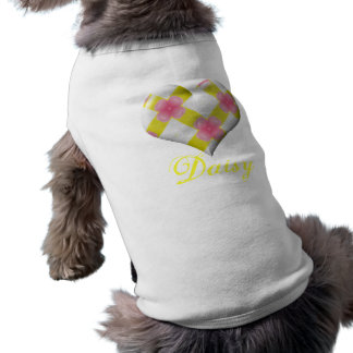 Pretty Pink and Yellow Heart Pet Shirt