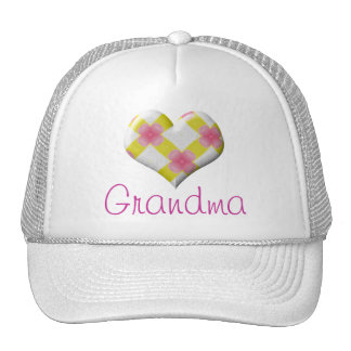 Pretty Pink and Yellow Heart Trucker Hat