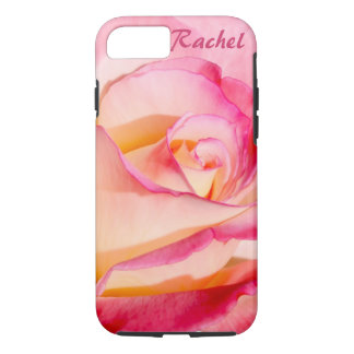 Pretty Pink and Yellow Rose iPhone 7 Case