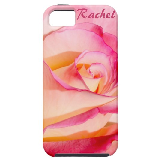 Pretty Pink and Yellow Rose iPhone SE/5/5s Case