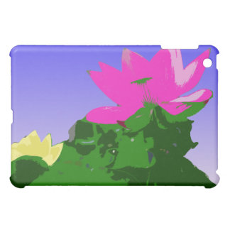 pretty pink and yellow waterlily case for the iPad mini