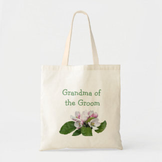 Pretty pink apple blossom bride/groom bag