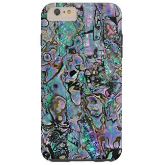 Pretty Pink Aqua Turquoise Faux Sea Shell Pattern Tough iPhone 6 Plus Case