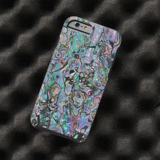 Pretty Pink Aqua Turquoise Faux Sea Shell Pattern Tough iPhone 6 Case