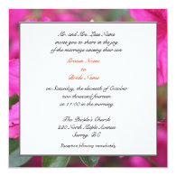 pretty pink azalea flowers personalized announcement
