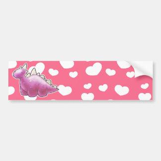 Pretty Pink Baby Dinosaur Bumper Sticker