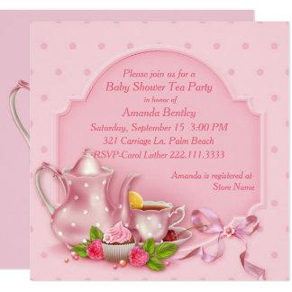 tea party baby shower invitations  announcements  zazzle, invitation samples