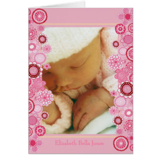 Pretty Pink Baby Thank You Flip Open Note Cards