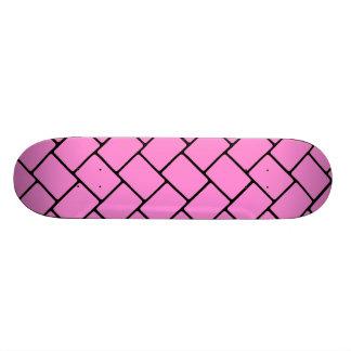 Pretty Pink Basket Weave 2 Skateboard