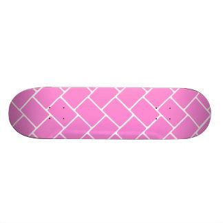 Pretty Pink Basket Weave Skateboard Deck