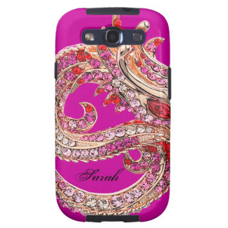 Pretty Pink Bejeweled Galaxy S3 Cover