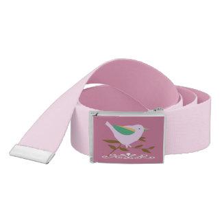 Pretty pink bird belt