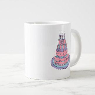 Pretty Pink Birthday Cake Giant Coffee Mug