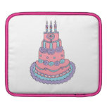 Pretty Pink Birthday Cake iPad Sleeve