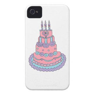 Pretty Pink Birthday Cake iPhone 4 Case
