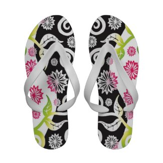 Pretty Pink ,Black And White Floral Pattern