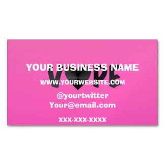 Pretty Pink Black Vape Heart Business Card Magnet