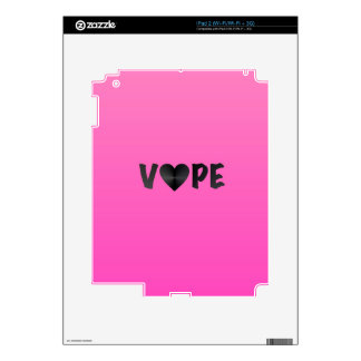 Pretty Pink Black Vape Heart Decals For The iPad 2