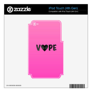Pretty Pink Black Vape Heart iPod Touch 4G Decal