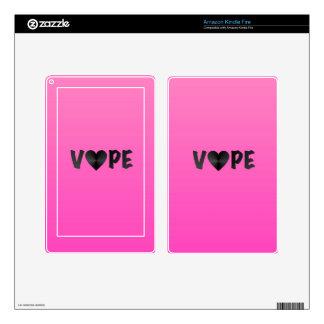 Pretty Pink Black Vape Heart Kindle Fire Decals