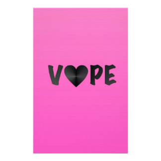 Pretty Pink Black Vape Heart Stationery