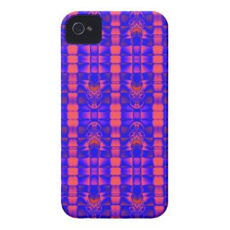 pretty pink blue fractal pattern Case-Mate iPhone 4 case