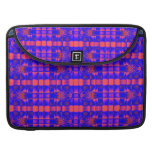 pretty pink blue fractal pattern sleeves for MacBooks