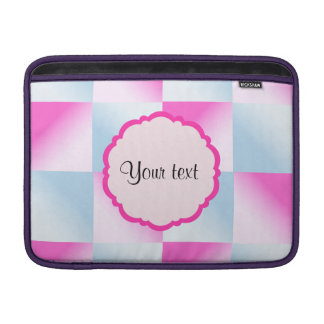Pretty Pink & Blue Gradient Squares MacBook Air Sleeve