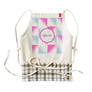 Pretty Pink & Blue Gradient Squares Zazzle HEART Apron