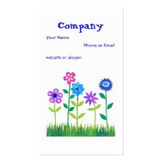 Pretty Pink Blue Mauve Flowers Business Card