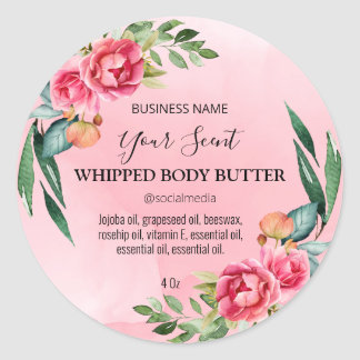 Pretty Pink Body Butter Labels