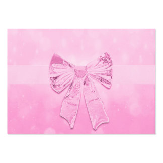 Pretty Pink Bow Large Business Cards (Pack Of 100)