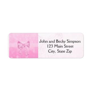 Pretty Pink Bow Label
