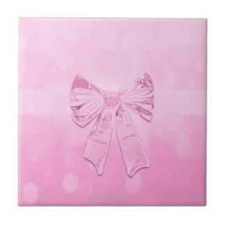 Pretty Pink Bow Tile