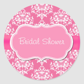 Pretty Pink Bridal Shower Envelope Seal