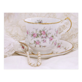 Pretty Pink Bridal Tea Postcards