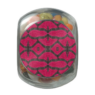 pretty pink brown pattern jelly belly candy jars