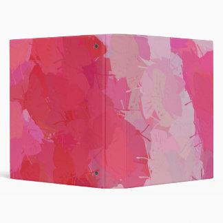Pretty Pink Butterflies 3 Ring Binder