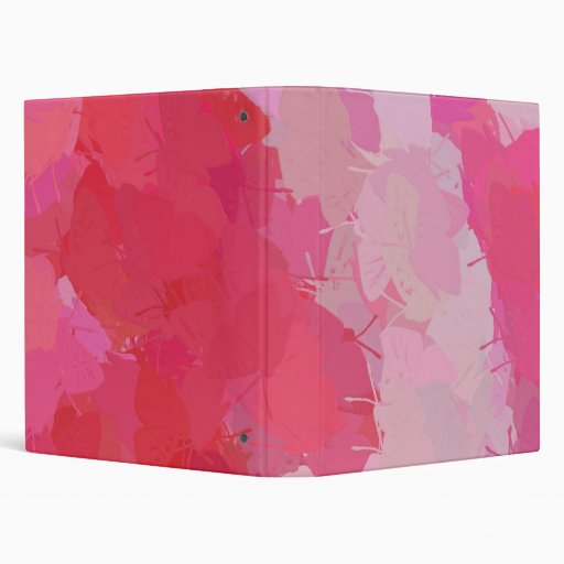 Pretty Pink Butterflies 3 Ring Binders
