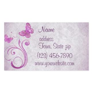 Pretty Pink Butterflies Business Cards