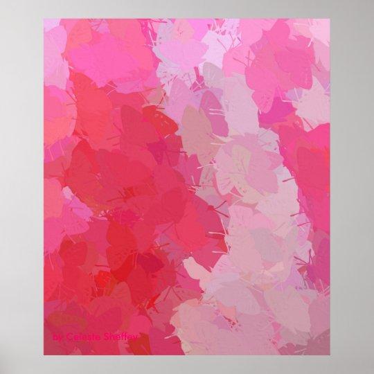 Pretty Pink Butterflies Poster