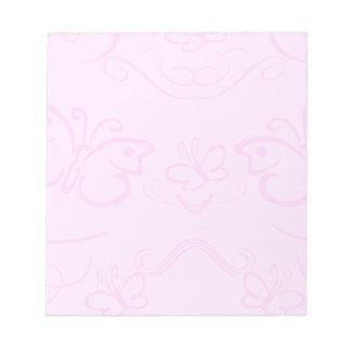 Pretty Pink Butterflies Scratch Pad