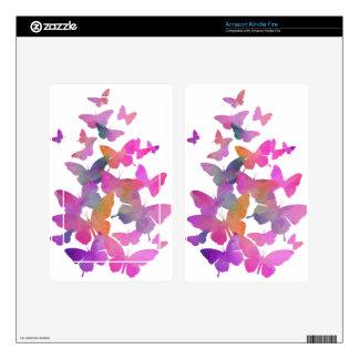 Pretty Pink Butterflies Skin For Kindle Fire