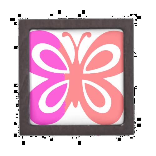 Pretty Pink butterfly design Premium Keepsake Boxes