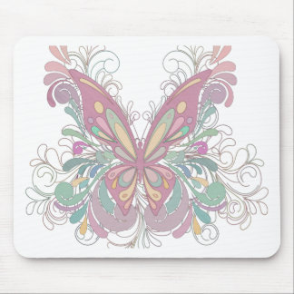 Pretty Pink Butterfly Mouse Pad