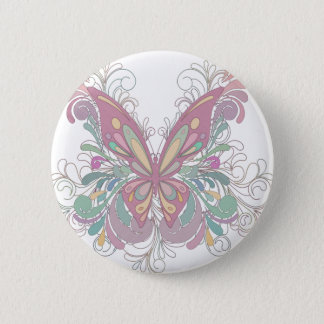 Pretty Pink Butterfly Pinback Button