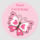 Pretty Pink Butterfly Stickers Envelope Seals